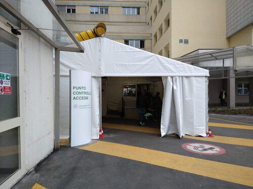 Il punto di acesso del Policlinico di Modena