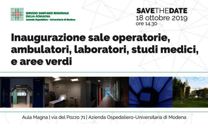 Inaugurazione sale operatorie, ambulatori, laboratori, studi medici e aree verdi