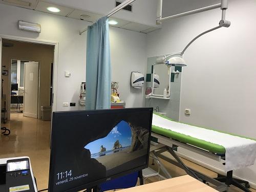 Uno dei nuovi ambulatori di Reumatologia