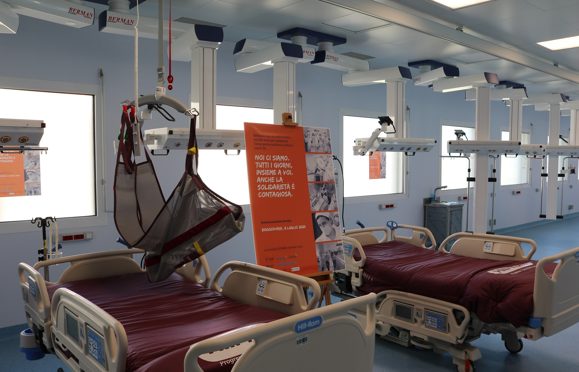 Hub nazionale e regionale di Terapia Intensiva: SESAMO dona due letti elettrici e tre sollevatori all'Ospedale Civile