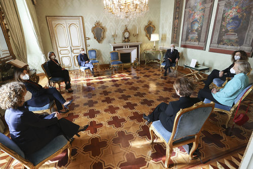 La delegazione con il Presidente Mattarella
