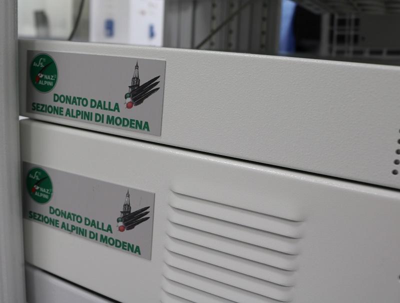 Sala Ibrida: la donazione della Sezione Modenese dell'Associazione Nazionale Alpini