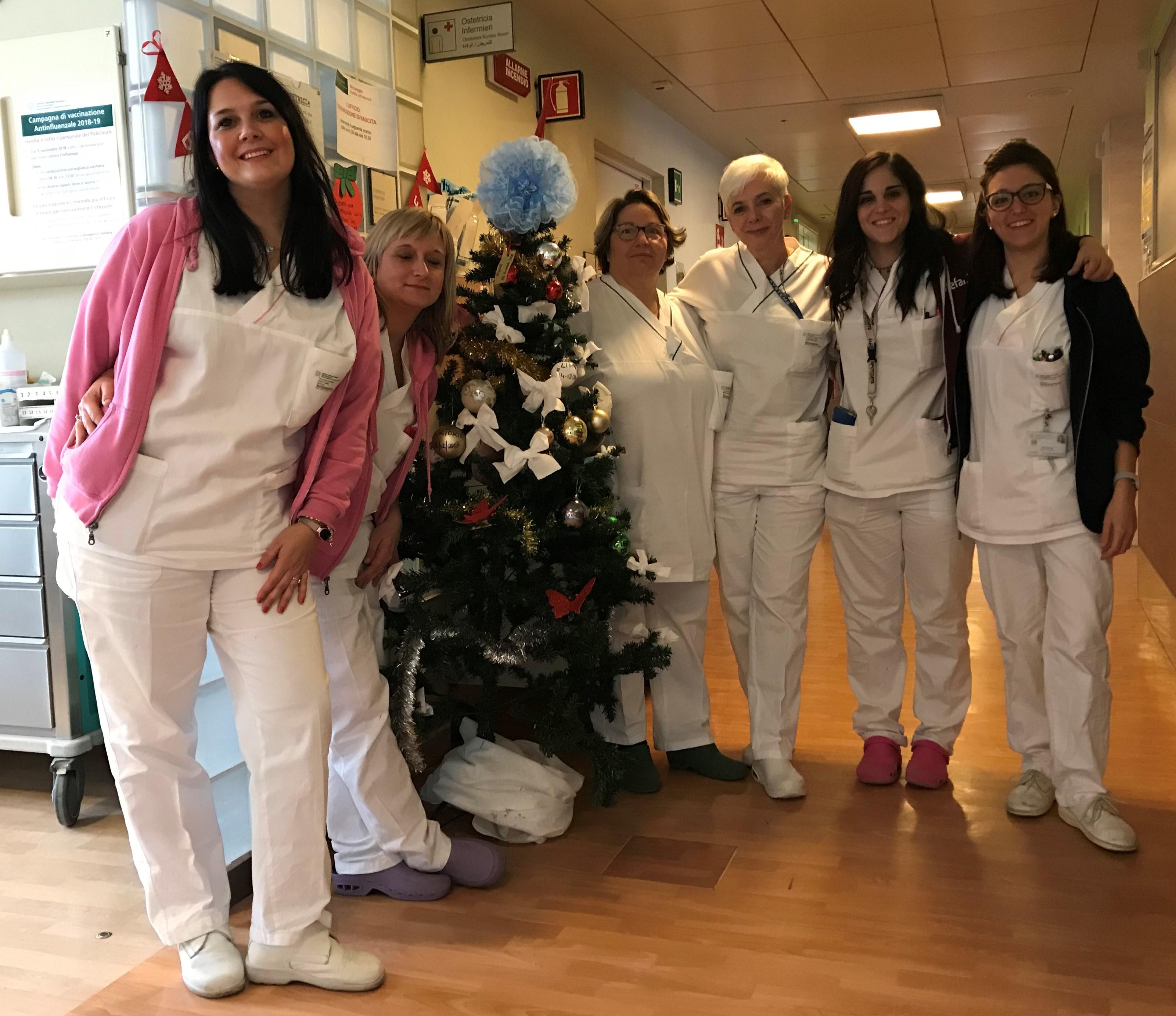 L'equipe infermieristica dell'Ostetricia e Ginecologia del Policlinico
