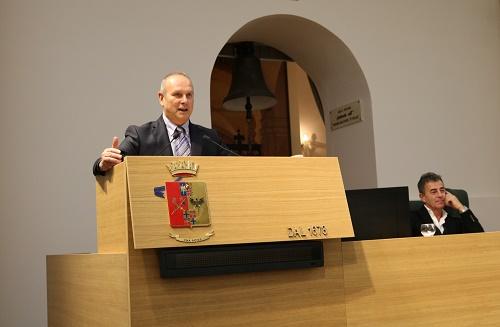 Ivan Trenti, durante l'incontro in Accademia