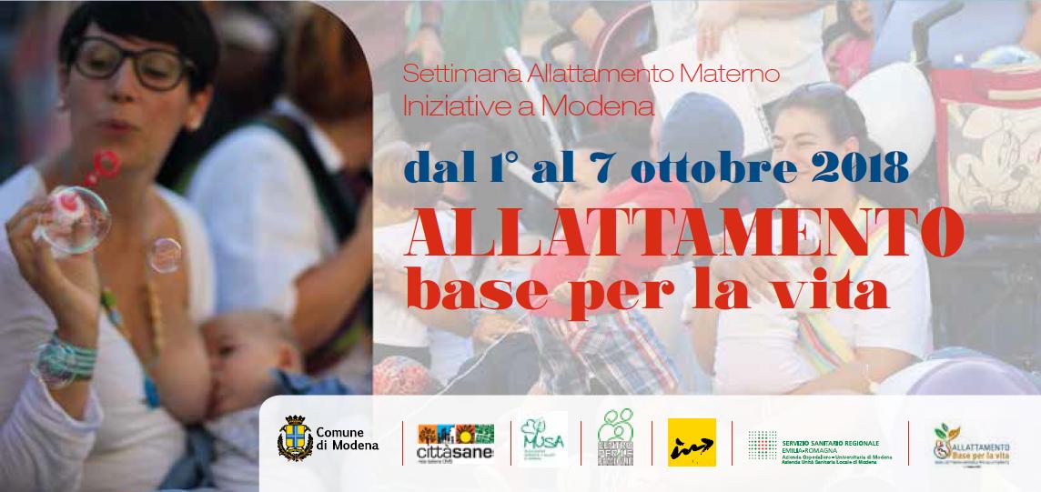 Anche l'Azienda Ospedaliero - Universitaria di Modena partecipa alla Settimana dell'Allattamento al Seno