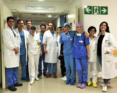 L'equipe dei trapianti di fegato