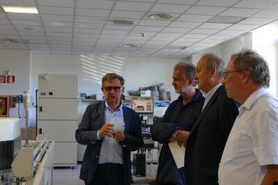 La visita al Laboratorio