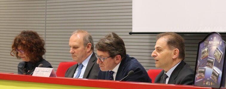 Da sinistra: Gherardi, Trenti, Muzzarelli, Amadessi