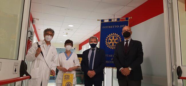 Il Rotary Club di Modena dona due broncoscopi all'Ospedale Civile di Baggiovara