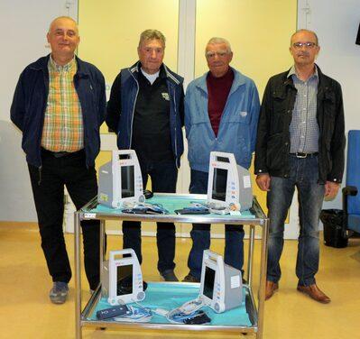 Da sinistra Andrea Caselli, Franco Ferrari, Olver Felicani, Gianni Biolcati
