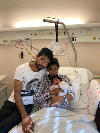 Sassuolo: Helemamethushi con i genitori mamma Ann Niukshika e papà Piyal Shantha
