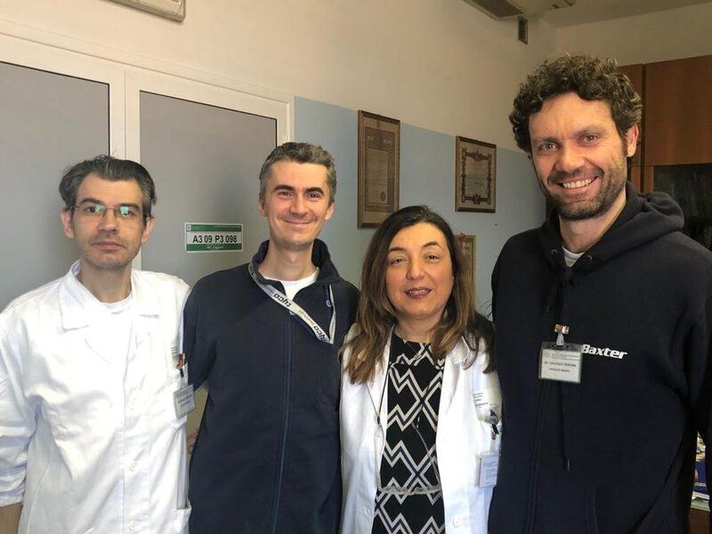 Da sinistra dott. Ubaldo Pintaudi, dott. Davide Gozzo, dottoressa Micaela Piccoli e dott. Vincenzo Trapani