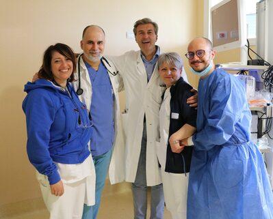 I donatori con i medici e le autorità