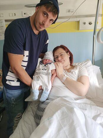 Mirandola: Shon Alexander con mamma Federica e papà Pasquale