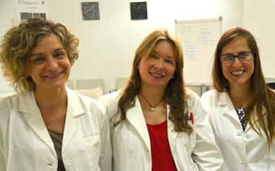 Nella foto da sx: Elisa Bianchi, Rossella Manfredini, Samantha Ruberti