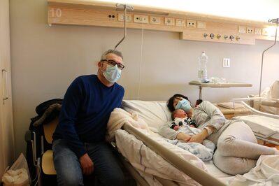 Leonardo con la mamma Elena e il papà Enrico
