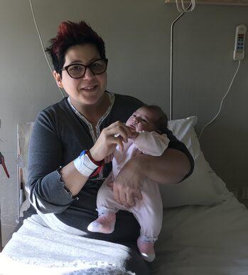 Policlinico di Modena: Matilde con sua mamma Chiara