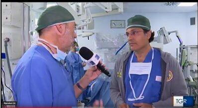 Nelson Bova, nell'edizione delle 14,00 del TG3 Regionale racconta questo nuovo approccio robotico provato per la prima volta all'Ospedale di Baggiovara