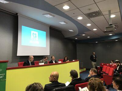 Da sinistra Ivan Trenti, Giancarlo Muzzarelli, Giorgio Amadessi, Maurizia Gherardi